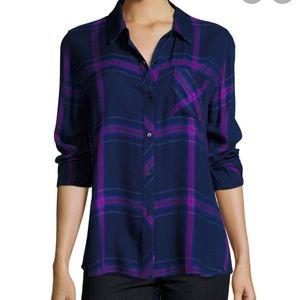 Rails Hunter plaid shirt sz S